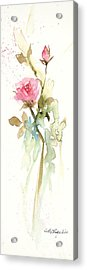 Acrylic Print featuring the painting Single Stem by Sandra Strohschein