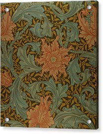 'single Stem' Wallpaper Design Acrylic Print by William Morris