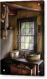 Sink - Please Wash Your Hands Acrylic Print by Mike Savad