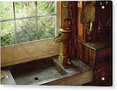 Sink - Water Pump Acrylic Print by Mike Savad
