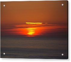 Sinking Sun Acrylic Print by Angi Parks