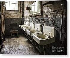 Acrylic Print featuring the mixed media Sinkline by Terry Rowe
