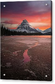 Sinopah Mountain Sundown // Two Medicine Lake, Glacier National Park  Acrylic Print