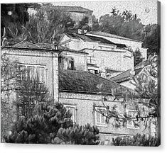 Acrylic Print featuring the photograph Sintra In Black And White by Julie Palencia