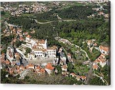 Sintra National Palace Aerial Acrylic Print by Georgia Mizuleva
