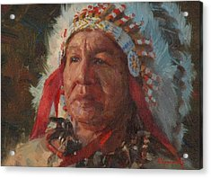 Sioux Chief Acrylic Print by Jim Clements
