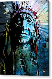 Sioux Chief Acrylic Print