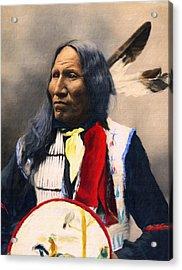 Sioux Chief Portrait Acrylic Print