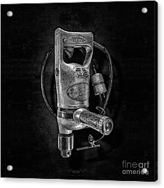 Sioux Drill Motor 1/2 Inch Bw Acrylic Print