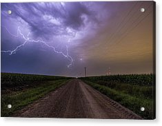 Acrylic Print featuring the photograph Sioux Falls Lightning by Aaron J Groen