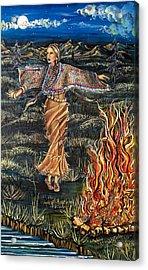 Sioux Woman Dancing Acrylic Print