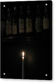 Sipping By Candlelight Acrylic Print by Staci-Jill Burnley