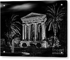 Sir Alexander Ball Monument In Valletta Acrylic Print by Stephan Grixti