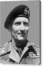 Sir Bernard Law Montgomery  Acrylic Print by War Is Hell Store