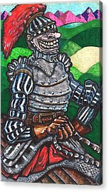 Sir Bols The Black Knight Acrylic Print by Al Goldfarb