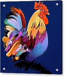 Acrylic Print featuring the painting Sir Chanticleer by Bob Coonts