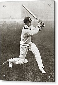 Sir Donald George Bradman, 1908 Acrylic Print by Vintage Design Pics