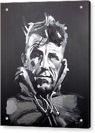 Acrylic Print featuring the painting Sir Edmund Hillary by Richard Le Page