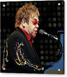 Sir Elton John At The Piano Acrylic Print