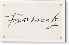 Sir Francis Drake C 1540 1543 To 1596 Acrylic Print by Vintage Design Pics