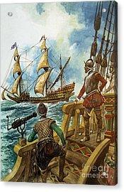 Sir Francis Drake Acrylic Print by Peter Jackson
