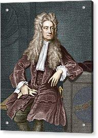 Sir Isaac Newton, British Physicist Acrylic Print by Sheila Terry
