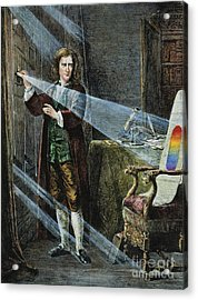 Sir Isaac Newton Acrylic Print by Granger