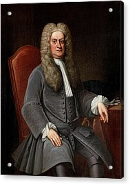 Sir Isaac Newton Acrylic Print by War Is Hell Store
