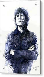 Sir Mick Jagger Acrylic Print