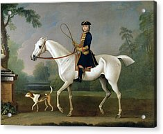 Sir Roger Burgoyne Riding 'badger' Acrylic Print by James Seymour