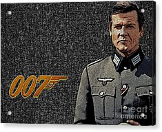 Sir Roger Moore Acrylic Print