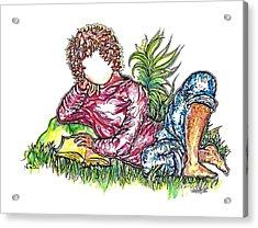 Sir Sage Acrylic Print by Judith Herbert
