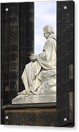 Sir Walter Scott Statue Acrylic Print by Mike McGlothlen