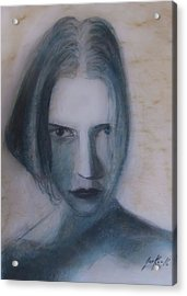 Acrylic Print featuring the painting Siren From The Deep by Jarko Aka Lui Grande