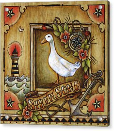 Acrylic Print featuring the painting Siren Song Aka Ducking In For A Tattoo by Retta Stephenson