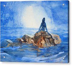 Siren Song Acrylic Print by Marilyn Jacobson