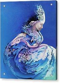 Sirenetta Acrylic Print by Symona Colina