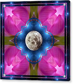 Sister Moon Acrylic Print by Bell And Todd