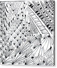 Sister Tangle Acrylic Print