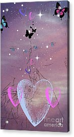 Sisterly Love Acrylic Print by Diamante Lavendar