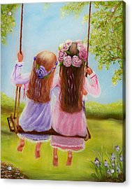 Sisters And Friends Forever Acrylic Print