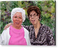 Sisters -commissioned  Acrylic Print by Reggie Duffie