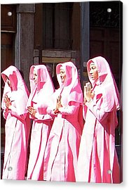 Sisters In Pink Acrylic Print