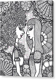 Sisters - Ink Acrylic Print