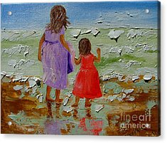 Sisters Acrylic Print by Inna Montano