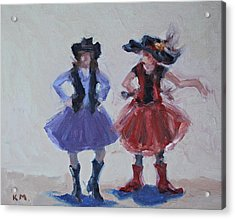 Sisters Acrylic Print by Karen McLain