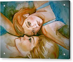 Sisters Acrylic Print by L Lauter