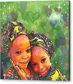 Sisters Love Acrylic Print
