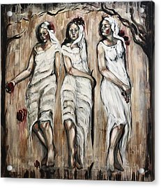 Sisters Of Mercy Acrylic Print by Carrie Joy Byrnes