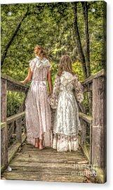 Sisters Acrylic Print by Randy Steele